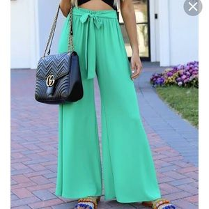 NWOT Vici Green Tie Pants